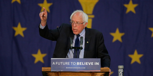 Democratic presidential candidate, Sen. Bernie Sanders. Photo / AP