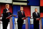 Republican presidential candidates Donald Trump, Ted Cruz and John Kasich. Photo / AP