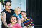 Anika Moa is giving back after the success of her Pledge Me campaign and (left) with her children Soren, and twin boys Taane and Barry.
