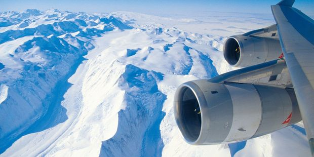 The view from a sight-seeing flight over Antarctica. Photo / Supplied