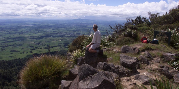 The view from Mt Pirongia  towards Te Awamutu is glorious. Photo / NZME.