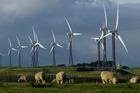 Wind turbines at Trust Power's Tararua Windfarm near Palmerston North. Photo / Dean Purcell
