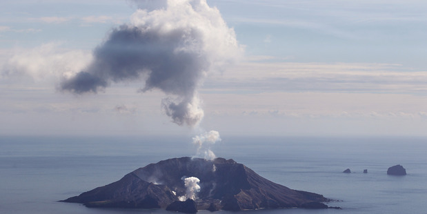 Activity from White Island in 2013. Scientists are noticing continued activity there at the moment. PHOTO/FILE
