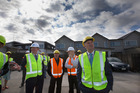 Prime Minister John Key during his visit to Hobsonville Point housing development. Photo / Brett Phibbs