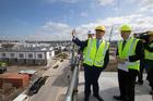 Prime Minister John Key at Hobsonville Point. Photo / Brett Phibbs