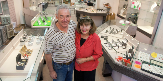 Tony Truss and his partner Sharyn Henderson at his Tutanekai St store. Photo / Ben Fraser