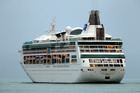 The cruise ship Rhapsody of the Seas was battered by a 'freak wave'. Photo / Glenn Taylor