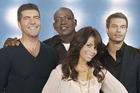 The original judges Simon Cowell. Randy Jackson, Paula Abdul and host Ryan Seacrest.