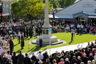 Susannah Hansen, from Woodford House, was a guest speaker at the Havelock North service, which drew a large crowd. Photo / Warren Buckland