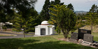 The mausoleum in Waikumete Cemetery won in the small project architecture category. Photo / Supplied