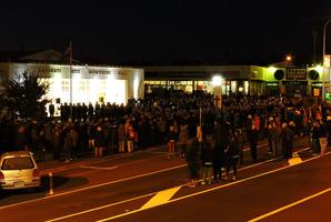 Katikati's dawn service drew a large crowd today. Photo/Bruce Cooper