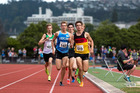 Daniel Hintz (right) pictured winning the under-20 1500m race at the national championships in Dunedin. Photo / Michael Dawson