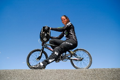 Sarah Walker, New Zealand's first BMX Olympian and silver medal winner. Photo / File