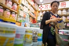 Demand for imported formula has boomed in China following a string of food safety incidents. Picture / Bloomberg