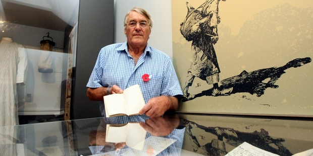 REMEMBER: Havelock North resident Neil Chambers has loaned some personal belongings of his late grandfather Major Selwyn Chambers to the MTG for Hawke's Bay at War. PHOTO/PAUL TAYLOR