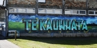 A mural in the main street of Te Kauwhata celebrates its rural surroundings. Photo / Doug Sherring