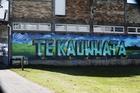 A mural in the main street of Te Kauwhata celebrates its rural surroundings. Photo / Doug Sherring