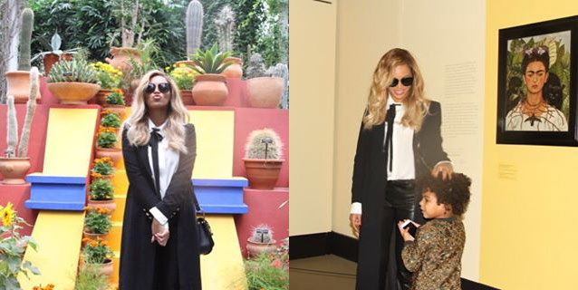 Beyonce at the Frida Kahlo exhibition in New York. Photos / Instagram.com via beyonce