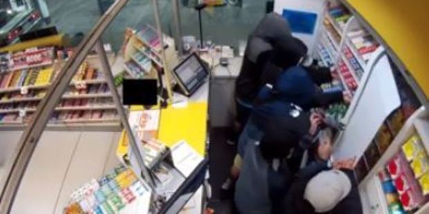 Loading Eight people were involved in the ram-raid. Photo: Waitemata Police/Facebook