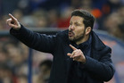 Atletico's coach Diego Simeone. Photo / AP