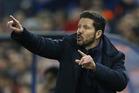 Atletico's coach Diego Simeone. Photo / AP