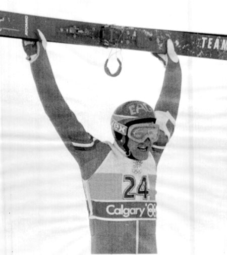 """Eddie """"the Eagle"""" from the 1988 Calgary Winter Olympics. Photo / Reuters"""