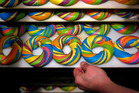 A tray of baked Rainbow Bagels at the Bagel Store in Brooklyn. Photo / Yana Paskova for The Washington Post