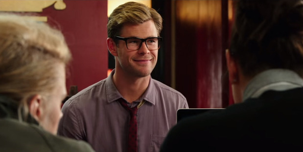 Actor Chris Hemsworth stars in the new Ghostbusters reboot as Kevin.