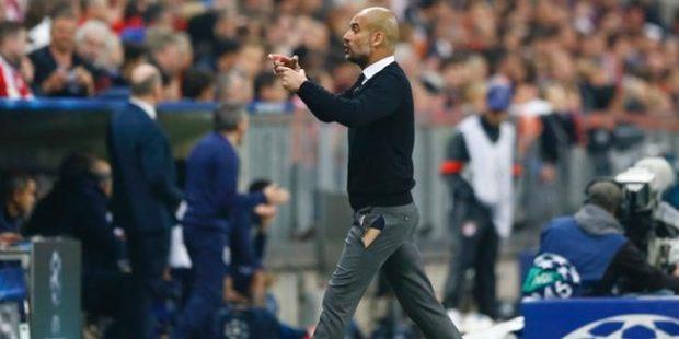 Bayern Munich manager Pep Guardiola's ripped trousers rank highly among sporting wardrobe malfunctions. Photo / AP