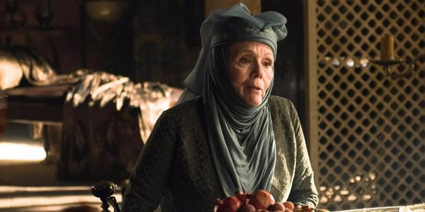 King's Landing offered a more vital version of crone-hood in Olenna Tyrell, played with peppery exuberance by Diana Rigg.