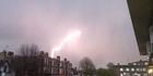 Watch: Moment lightning strikes airplane landing in London