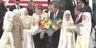 Watch: Angela Merkel visits refugee camp
