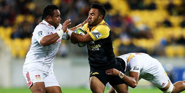 Loading Chiefs prop Siate Tokolahi in action against the Hurricanes. Photo / Getty