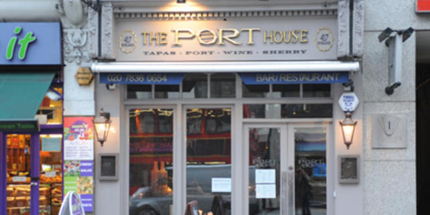 Ibrail Khan allegedly became abusive when asked to settle the bill at Port House tapas restaurant on the Strand in central London. Photo / Google