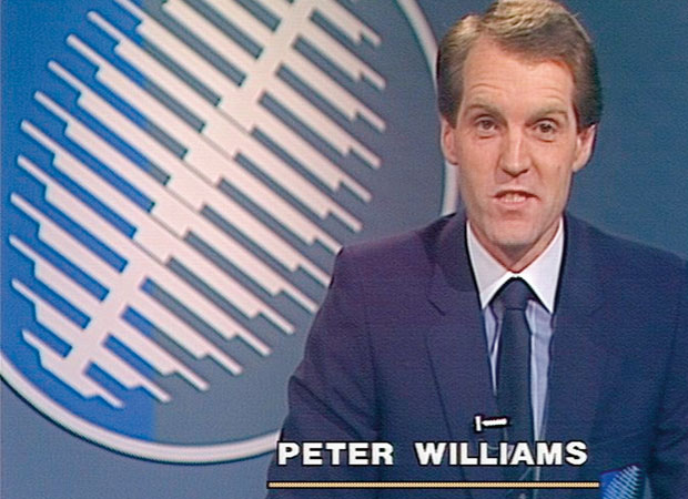 Peter Williams hosts the Rugby World Cup opening ceremony in 1987.