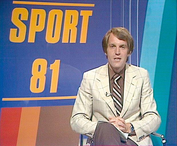 Peter on end of year sports on Sport 81 in 1981.