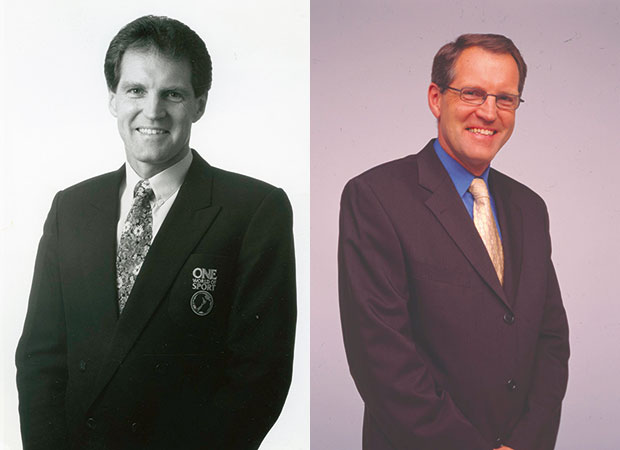 Peter Williams in 1992 and 2002.