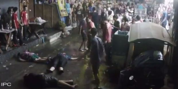 Loading Video from the attack shows the family lying unconscious on the street. Photo / Youtube