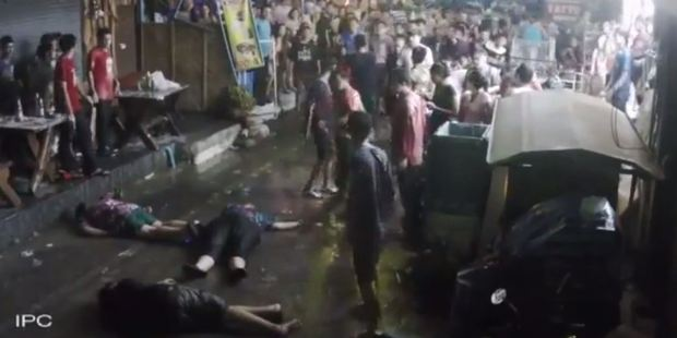 Loading The family were left lying unconscious on the ground after the attack. Photo / Youtube