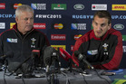 Wales skipper Sam Warburton and coach Warren Gatland. Photo / Brett Phibbs