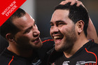 Bodene Thompson (L) and Konrad Hurrell were two of the six players that were axed. Photo / Getty Images