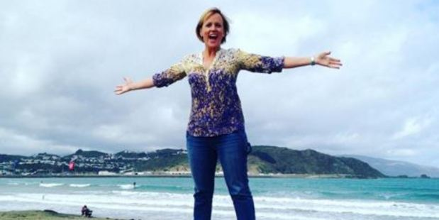 Hillary Barry updated her Instagram followers from her trip. One showed her standing on top of a concrete fence in front of the sea (pictured). Photo: hilary.barry/Instagram