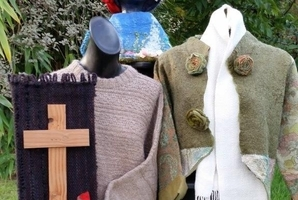 All manner of creative fibre works can be found at the exhibition and sale at Hastings Community Arts Centre.