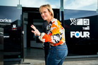 TV 3 presenter Hilary Barry arrives at TV3 with a car boot full of celebration drinks. Photo / Dean Purcell
