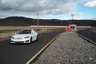 A Tesla Motors Model S vehicle exits the company's Gigafactory in Nevada, US. Photo / David Paul Morris, Bloomberg