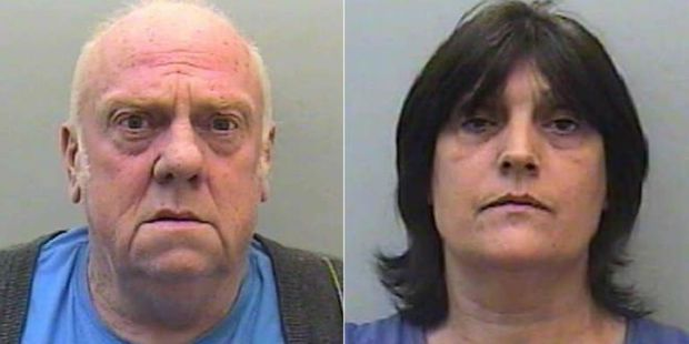 David Williams and Pauline Williams from Devon who bragged about being friends of notorious serial killers Fred and Rose West. Photo / Devon and Cornwall police