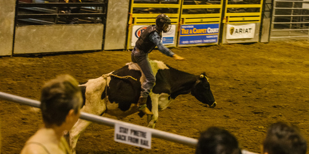 Rodeo at the Great Western Hotel, Rockhampton, Queensland, Australia.
