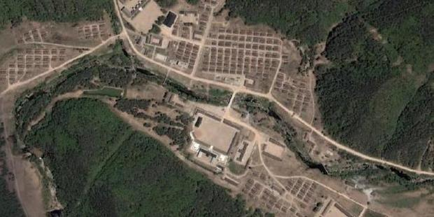 Satellite view of Camp 16, one of the most notorious prisons in North Korea. No ground-level pictures of the camp are known to have made it out of the country.