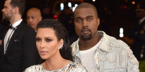 Kim Kardashian and Kanye West. Photo / AFP