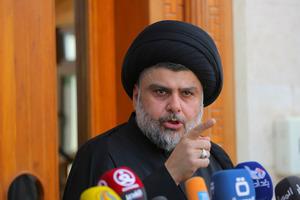 Shia cleric Moqtada al-Sadr speaks in Najaf. Photo / AP
